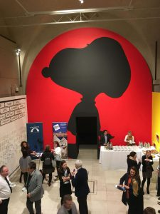 Peanuts for breakfast at Somerset House private view event