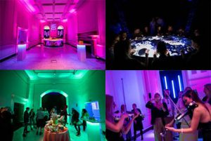 Going with the glow: Somerset House's Neon event lit up the River Rooms.